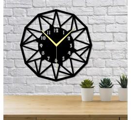 Triangle Üçgenler Dekoratif Duvar Saati