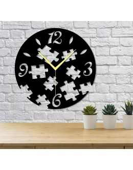 Puzzle Şeklinde Dekoratif Duvar Saati