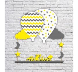 Çocuk / Bebek Odası Kişiye Özel Raflı Duvar Süsü