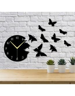 Uçan Kelebekler 10 Parça Duvar Saati