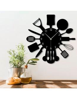 Mutfak Dekoratif Ahşap Duvar Saati