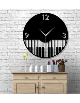 Piano Design Dekoratif Duvar Saati