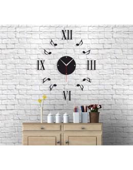 Dekoratif Müzik Temalı Parçalı Duvar Saati