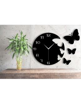 Uçan Kelebekler Dekoratif Duvar Saati