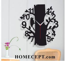 Ağaç Temalı Dekoratif Duvar Saati