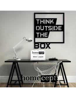 Think Outside Box Dekoratif Ahşap Duvar Tablosu